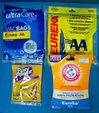6 Assorted Eureka AA Vacuum Cleaner Bags And A Eureka U Replacement Belt