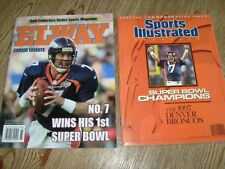 Lot of 2  Denver Broncos Sports Illustrated Commemorative & John Elway Tribute