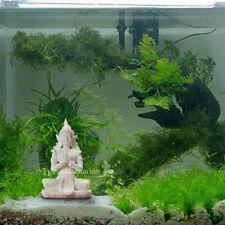 Fish Tank Ornament Aquarium Decorations Antique Emerald Buddha Statue Art Decor