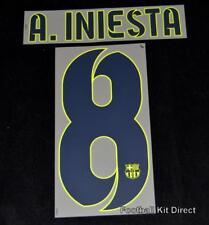 A. INIESTA BARCELLONA 8 2014-15 Maglietta da calcio nome/numero Set Taglia via Player