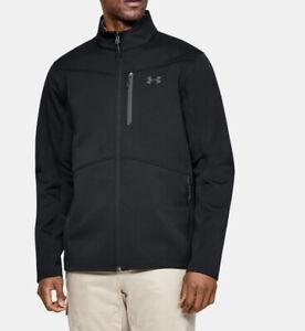 Men Under Armour UA ColdGear Infrared Shield Jacket Black 1321438-001 MSRP $100