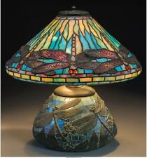 GEORGE WOOD TIFFANY STUDIOS-STYLE DRAGONFLY TABLE LAMP CIRCA 1915 H... Lot 63053