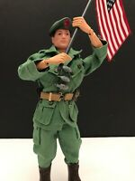 "GI Joe 12"" GREEN BERET BROWN HAIR Action Figure 1964 Vintage MINT CONDITION"