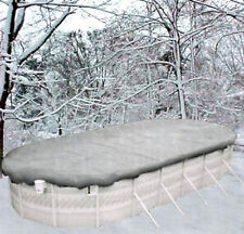 12'x24' Oval Above Ground Winter Swimming Pool Solid Cover 20Yr >Reinforced Hem