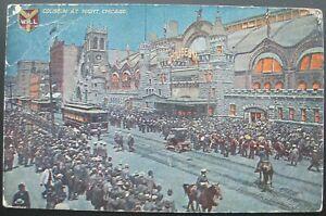 Chicago, IL Coliseum at Night Postcard 1911