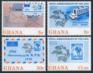 Ghana 512-515,515a,MNH.Michel 548-551Bl.55. UPU-100.Envelopes,Cape Hare,