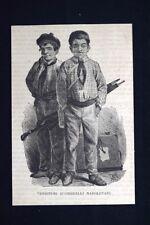 Venditori d'ombrelli napoletani Incisione del 1875