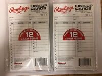 Rawlings 4 Part Batting Line Up Cards Baseball Softball 12 Cards Per Pack 2 Pack