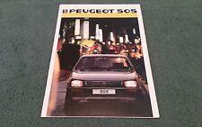1986 PEUGEOT 505 SALOON UK BROCHURE GR GRD SR SRD TURBO GTi GTD TURBO