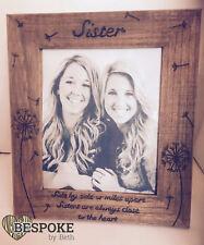 Personalised Wooden Picture Sister Frame Dandelion Keepsake 25cm Gift Christmas