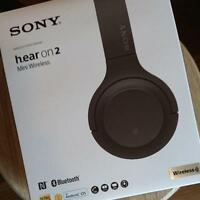 SONY WH-H800 h.ear on 2 mini Wireless Bluetooth Hi-Res Headphones Grayish Black