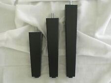 qadrat conici ZAMPE PER DIVANO PIEDI Mobile CASSETTIERA faggio nero h-15-20-25cm