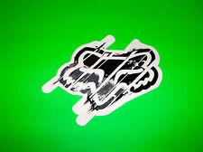 FOX RACING MOTOCROSS ATV QUAD SKATEBOARD BLACK & GREY DISTORTED STICKER DECAL