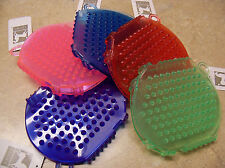 Rubber Jelly Glitter Scrub Bathing Curry Wash Mitt Purple Blue Green Pink Red