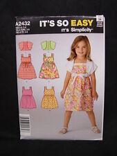 NEW OOP Simplicity It's So Easy A2432 Girl Sun Dress Jacket Pattern 2432 Sz 3-8