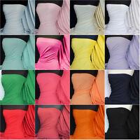 Plain Cotton lycra 4 way stretch jersey stretch fabric material Q35