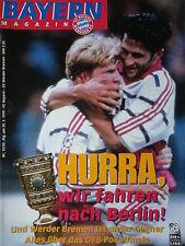 Programm 1998/99 FC Bayern München - Werder Bremen