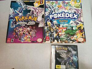 Pokémon Diamond Version (Nintendo DS, 2007) COMPLETE -With 2 Guides.