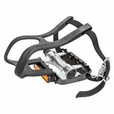 Bicycle Pedals Sunlite MTB Low Profile Alloy/Alloy w/Clips & Straps 9/16 Bike
