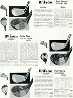 1952 Print Ad of Wilson Golf Clubs Sam Snead Signature & Patty Berg Woods Irons