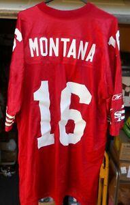 SAN FRANCISCO 49ERS JOE MONTANA # 16 FOOTBALL JERSEY MEN SIZE XX LARGE BY REEBOK