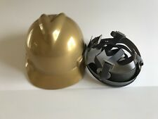 MSA 464852 Gold V-Gard Slotted Hard Hat Protective Cap Staz-On Suspension