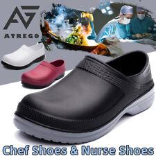 Atrego para hombre de enfermería Cocina Chef ~ L impermeable antideslizante en mocasines zapatos de trabajo