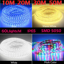 Christmas rope lights ebay 10m 20m 30m 50m party christmas lights wedding rope light waterproof white blue aloadofball Image collections