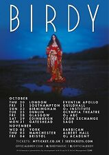 BIRDY 2016 UNITED KINGDOM CONCERT TOUR POSTER - Folk, Indie Folk/Pop/Rock Music