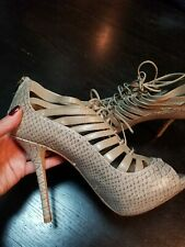 Christian Dior 36.5 platform peep-toe, lace-up sexy comfortable shoes/booties