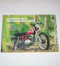 Prospekt / Broschüre Suzuki TS 50 K - Enduro!