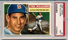 1956 Topps #5 TED WILLIAMS Red Sox NM PSA 7