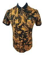 Mens Rare Lacoste Live Polo shirt Orange Size Small Medium 38 To 40 Chest