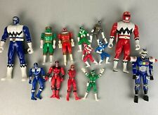 Lot of 12 Vtg Power Rangers Action Figures Zeo Transforming Bandai