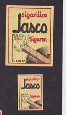 Ancienne  étiquette Allumettes Belgique BN22339 Jasco Cigarillos