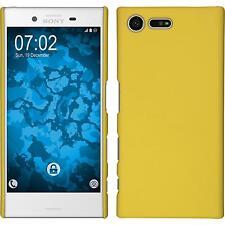 Coque Rigide Sony Xperia X Compact - gommée jaune + films de protection