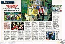Coupure de presse Clipping 1989 (2 pages) Jean Pierre Foucault à Disney World