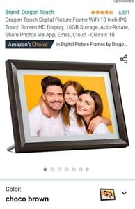 Great Deal - Dragon Touch Classic 10 Digital Picture Frame - WiFi, Touch, Cloud