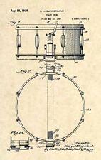Official Slingerland Radio King Snare Drum US Patent Art Print- Vintage 1939-288