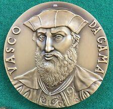 Beautiful antique and rare bronze medal of navigator  Vasco da Gama