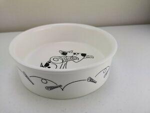 Maxwell & Williams `FETCH`Ceramic Water Food Dog Bowl-Porcelain-23.5 cm VGC