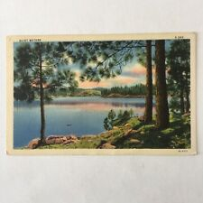 Quiet Water Mountain Landscape Scene Postmark Chicago 1940 Posted Postcard