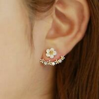 Cherry Blossoms Flower Stud Earrings Several Peach Florals Women Wedding Jewelry
