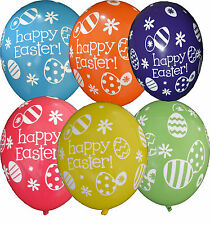 "Set of 25 Easter Eggs And Daisies Latex Balloons 11"" Mixed colours Party"