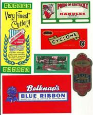 6 Vintage Unused Labels From Belknap Hardware & Mfg. Co. Louisville, Kentucky