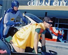 BATMAN ADAM WEST BURT WARD WITH BATCYCLE!