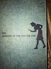 Nancy Drew 1935 HTF THE MESSAGE IN THE HOLLOW OAK KEENE Collectible Hardcover