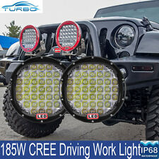 9 Inch CREE LED Spot Driving Lights Offroad 4x4WD HID Truck SUV Work Spotlights