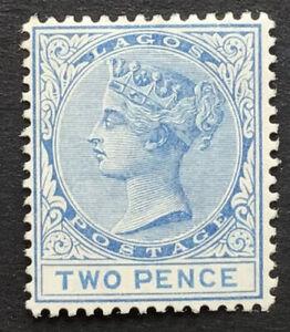 Nigeria - Lagos - 1882 2d blue unused/no gum SG 18 (ct £200)
