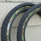 "ECLAT BMX FIREBALL 20 X 2.40"" BICYCLE TIRES BLACK w/ CAMO SIDEWALLS 100 PSI"